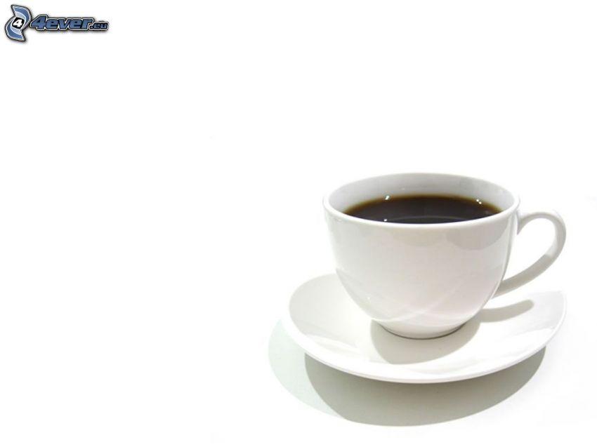 Tasse Kaffee, weißer Hintergrund