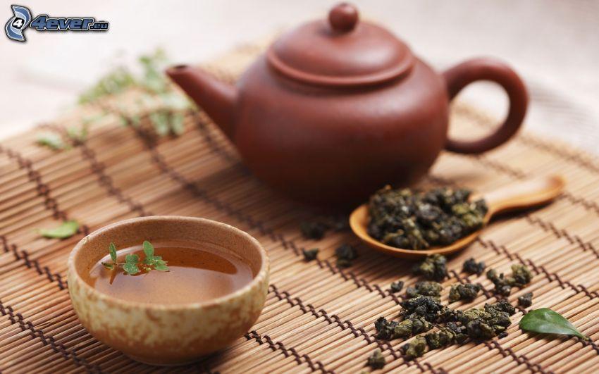 Teekanne, Tee-Tasse, losen Tee