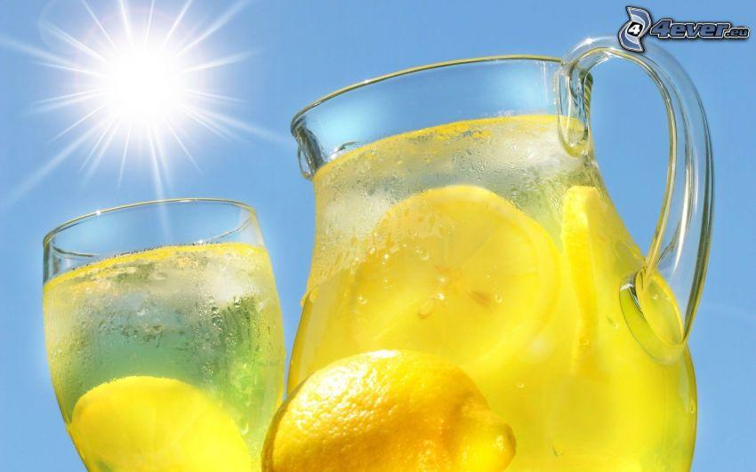 Zitronen-limonade, drink, Sonne