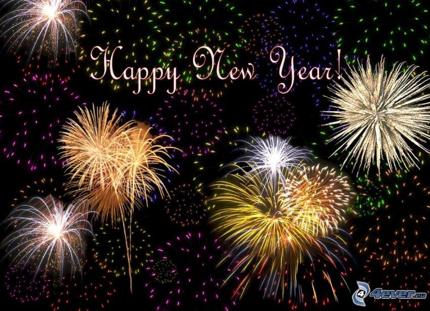 glückliches Neues Jahr, Feuerwerk