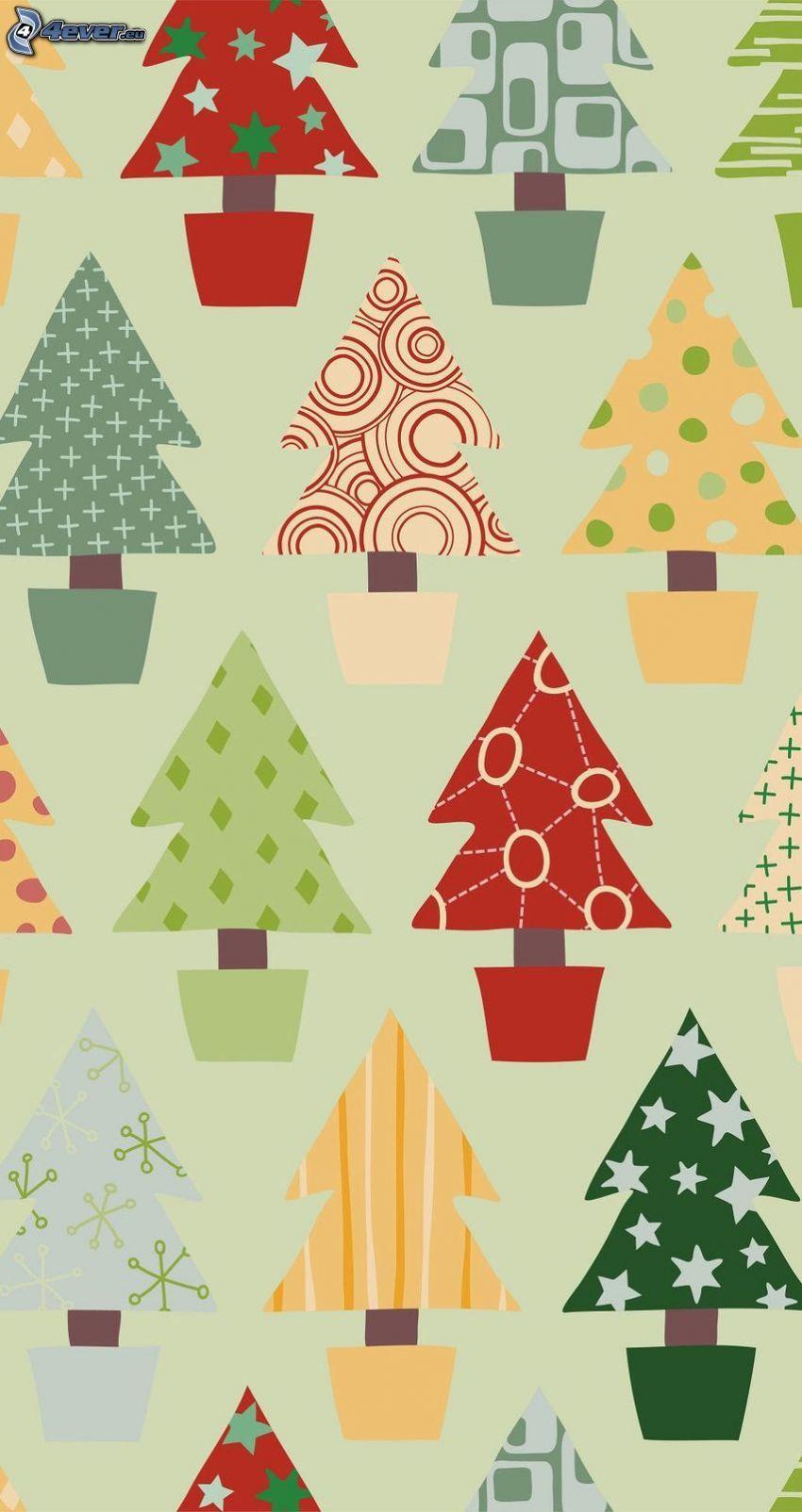 Weihnachtsbaum, Cartoon