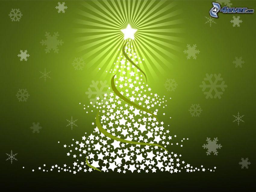 Weihnachtsbaum, Hintergrund, Sterne