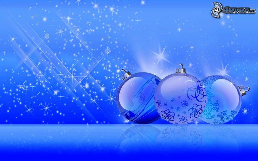 Weihnachtskugeln, Cartoon