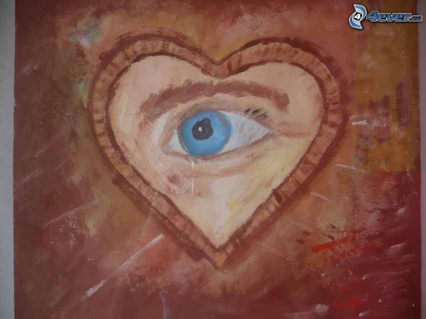 Auge, Herz, Malerei