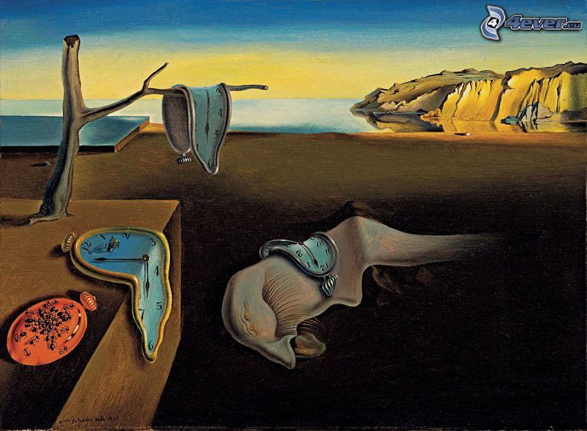 Beständigkeit der Erinnerung, The Persistence of Memory, Salvador Dalí, Bild