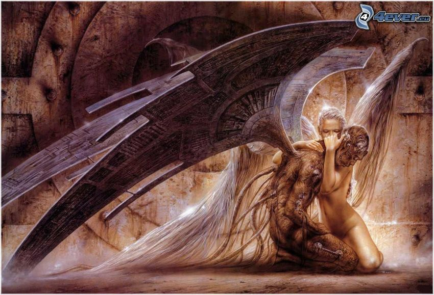 Fallen Angel, Flügel, Trauer