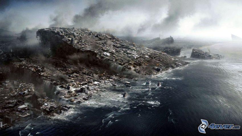 2012, felsige Küste, Apokalypse