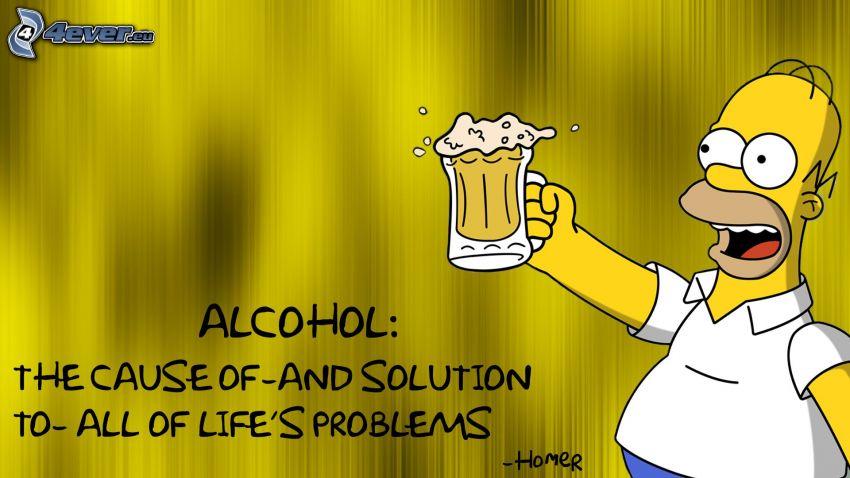 alkohol, Homer Simpson
