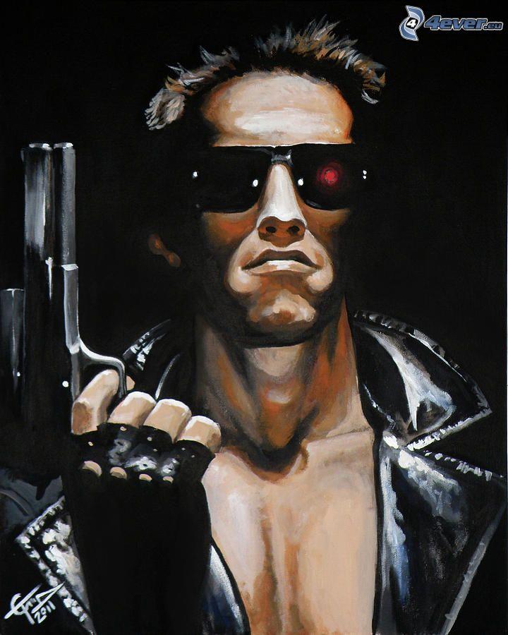 Arnold Schwarzenegger, Terminator, Cartoon