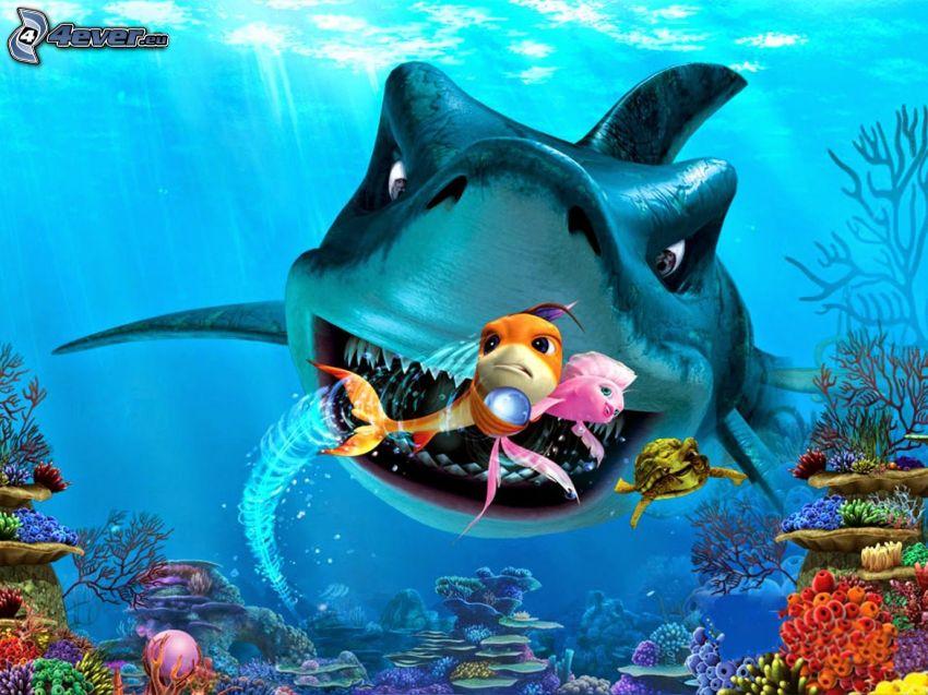 Findet Nemo, Hai