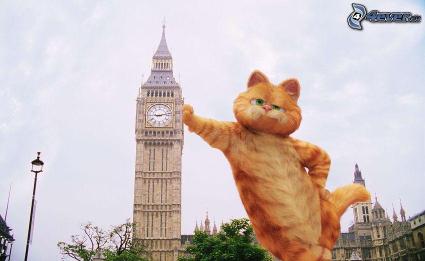 Garfield, Big Ben, London