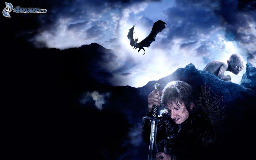 Hobbit, fliegen Drachen