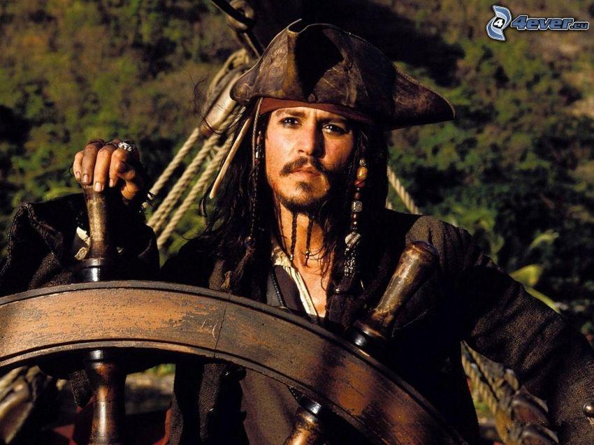 Jack Sparrow, Johnny Depp, Piraten der Karibik, Schiffsruder