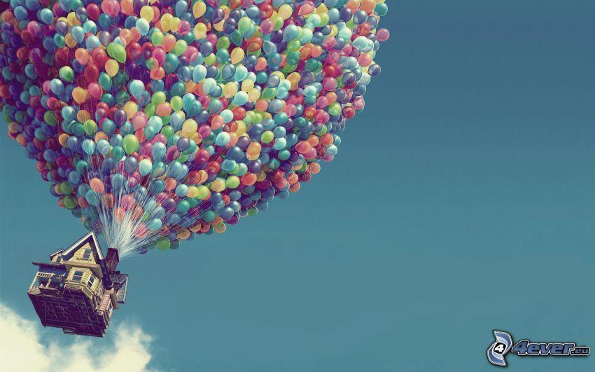 Oben, Luftballons