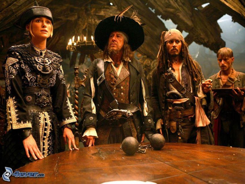 Piraten der Karibik, Elizabeth Swann, Hector Barbossa, Jack Sparrow