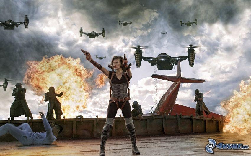 Resident Evil, Krieg