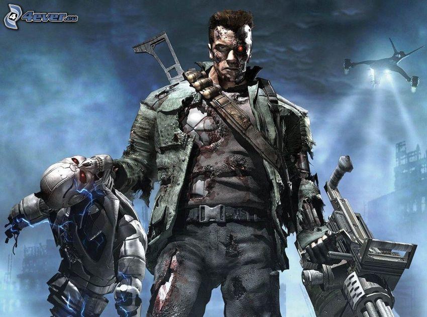 Terminator, Skelett, Arnold Schwarzenegger