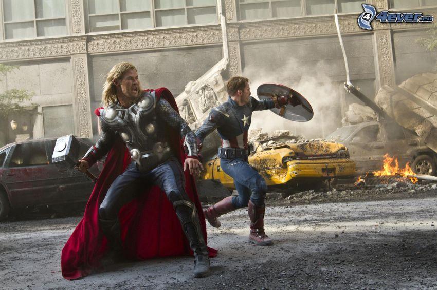 The Avengers, Thor, Captain America