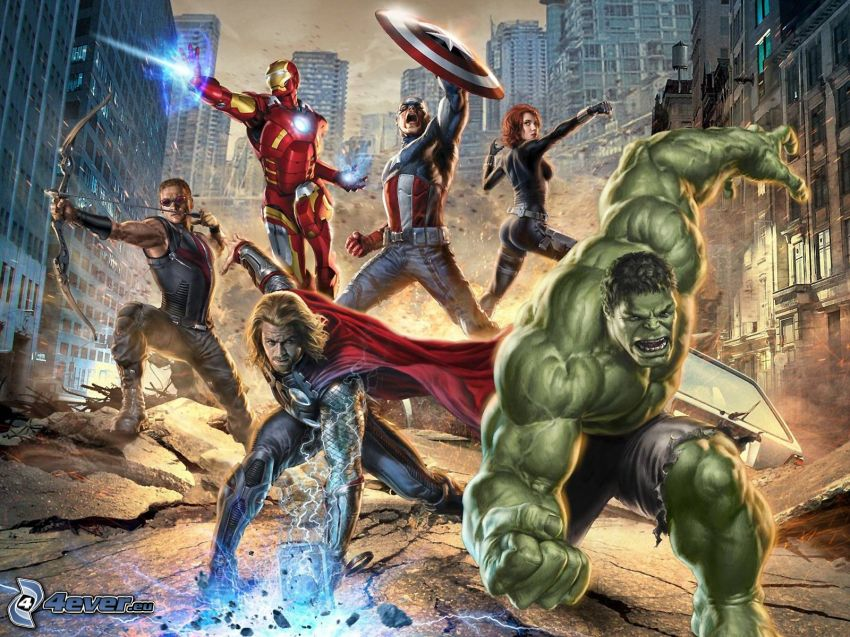 The Avengers, Thor, Hulk, Hawkeye, Iron Man, Captain America