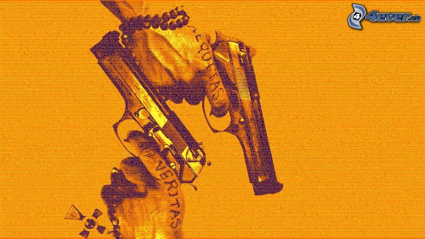 The Boondock Saints, Hände, Pistolen