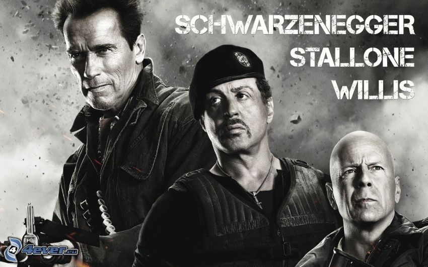 The Expendables 2, Arnold Schwarzenegger, Sylvester Stallone, Bruce Willis