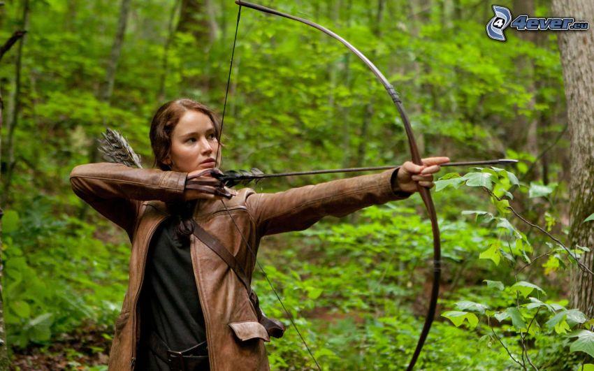 The Hunger Games, Frau, Bogenschütze, Bogen, Pfeil