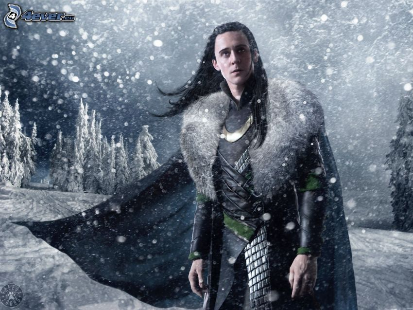 Thor, Mann, Schnee