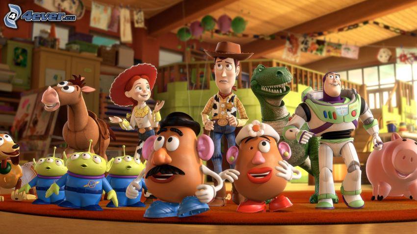 Toy Story, Buzz Lightyear, Woody