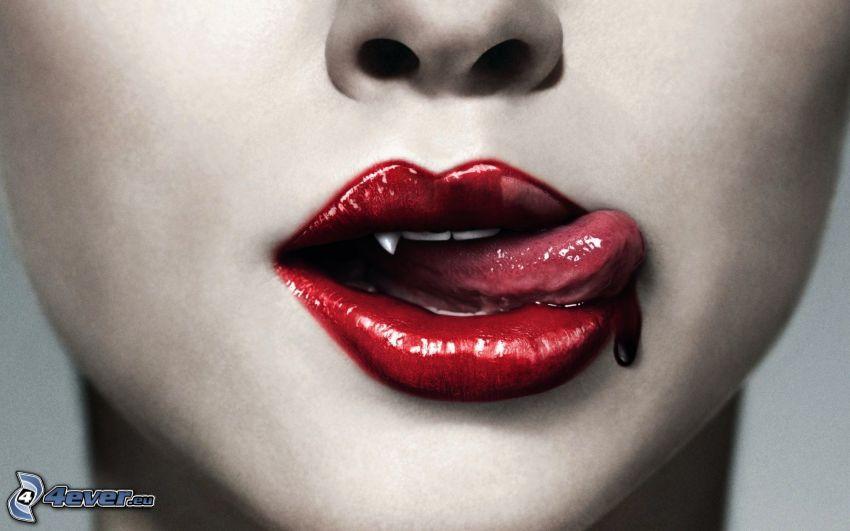 True Blood, Lippen, Blut