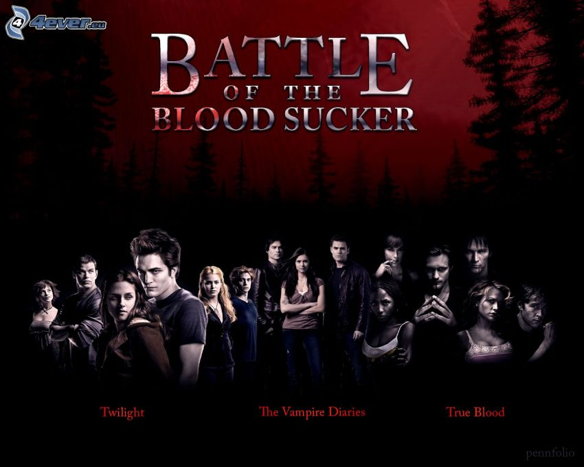 Twilight, The Vampire Diaries, True Blood