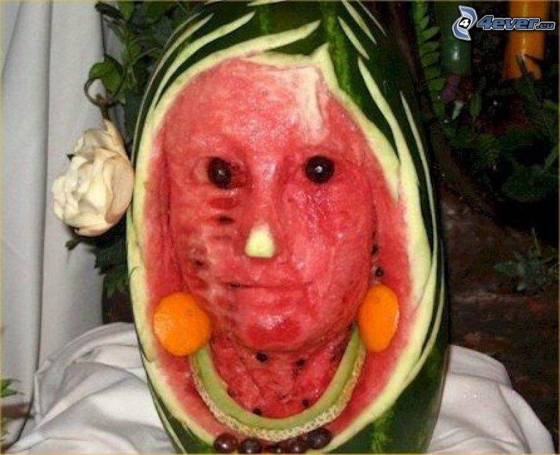 Gesicht, Wassermelon