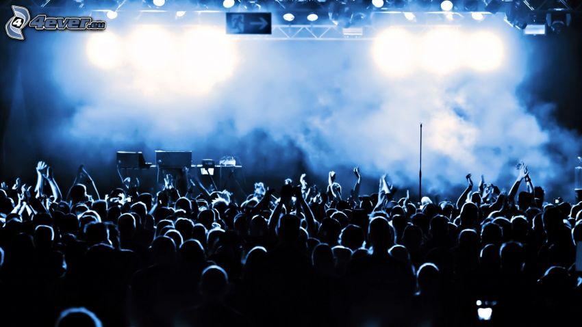 Konzert, Menschenmenge