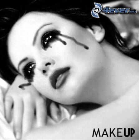 make-up, Frauenweinen, Tränen