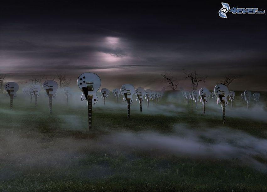 e-Gitarren, Friedhof