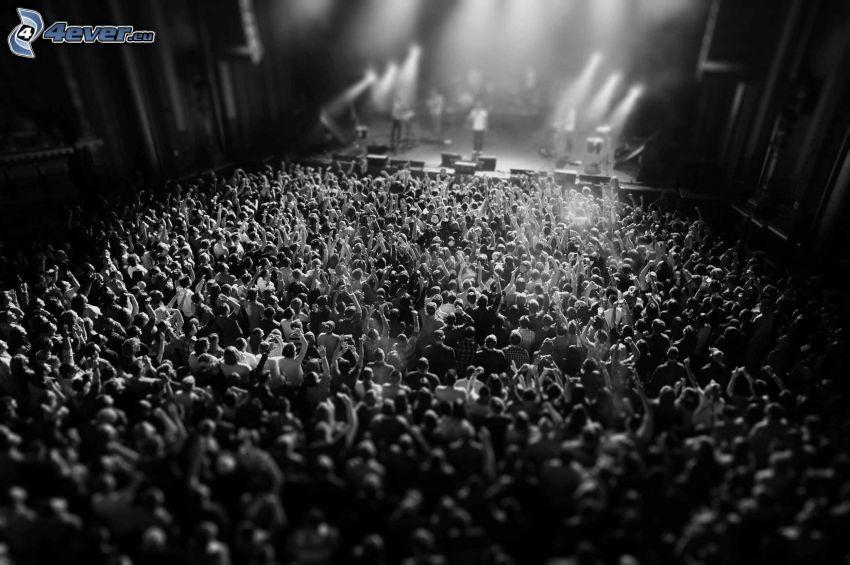 Konzert, Menschenmenge, fans, Hände