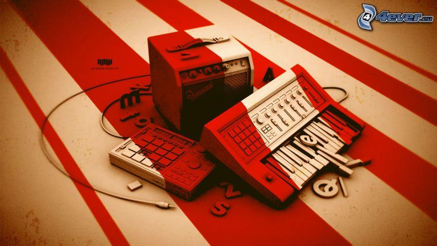 Lautsprecher, Klavier
