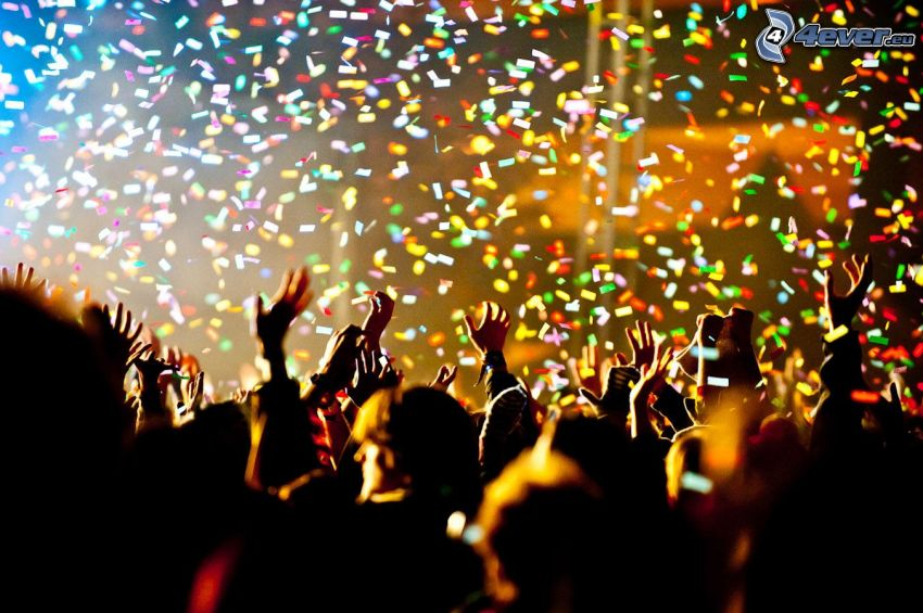 Menschenmenge, Party