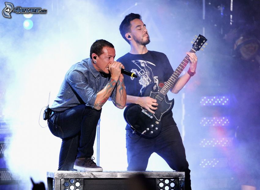 Mike Shinoda, Chester Bennington, Linkin Park, Konzert