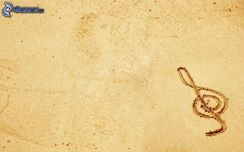 Notenschlüssel, Sand