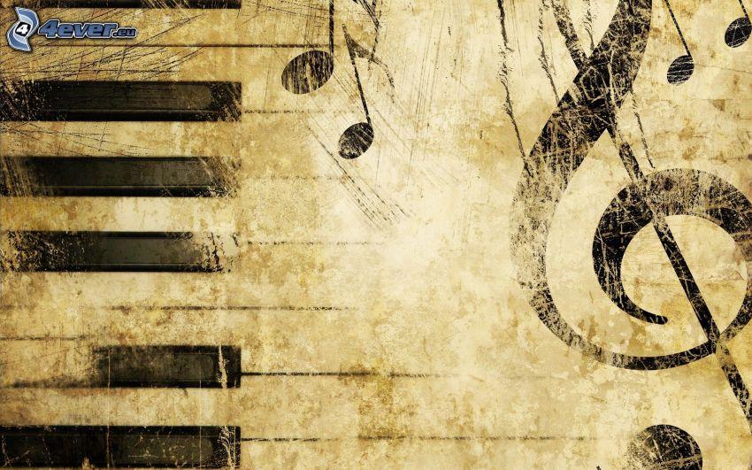 Notenschlüssel, Tasten