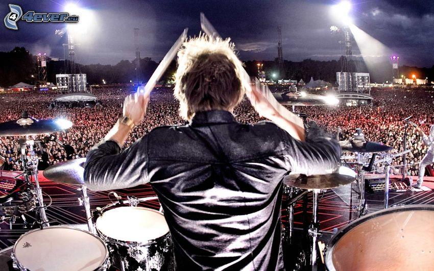 Schlagzeuger, Konzert, Megaparty