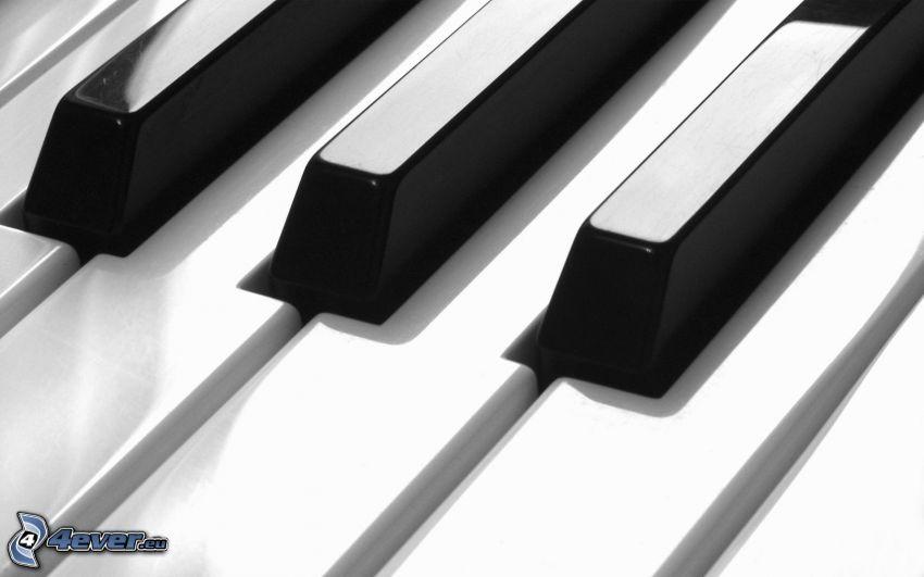 Tasten, Klavier