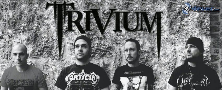 Trivium, Schwarzweiß Foto
