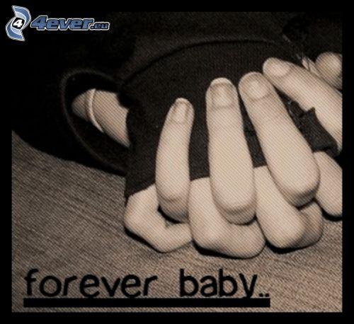 halten sich die Hände, forever, für immer