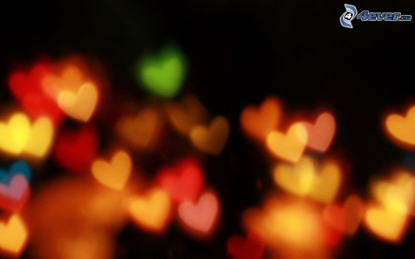 farbigen Herzen