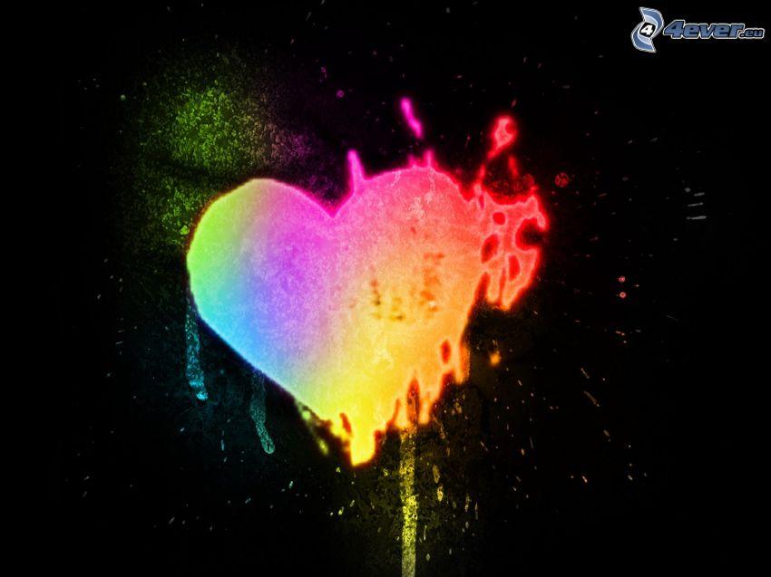 farbiges Herzchen