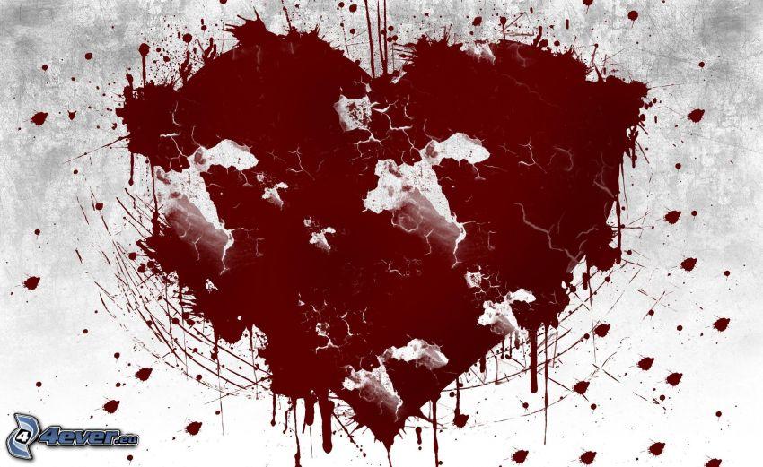 Herz, Kleckse