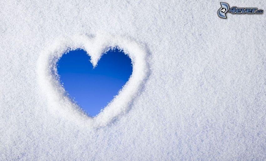 Herz, Schnee