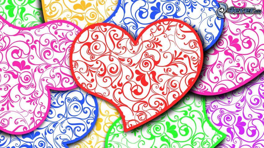 Herzen, Farben