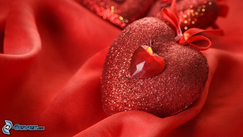 Herzen, rote Substanz